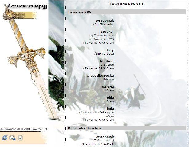 Tawerna RPG #013 - kwiecień 2001