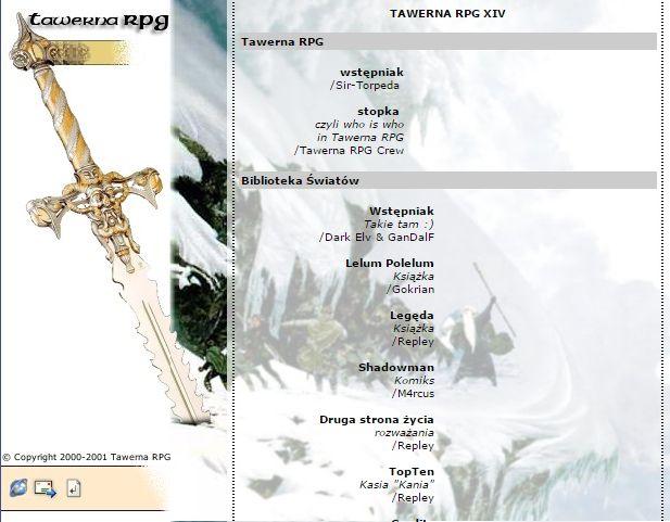 Tawerna RPG #014 - maj 2001