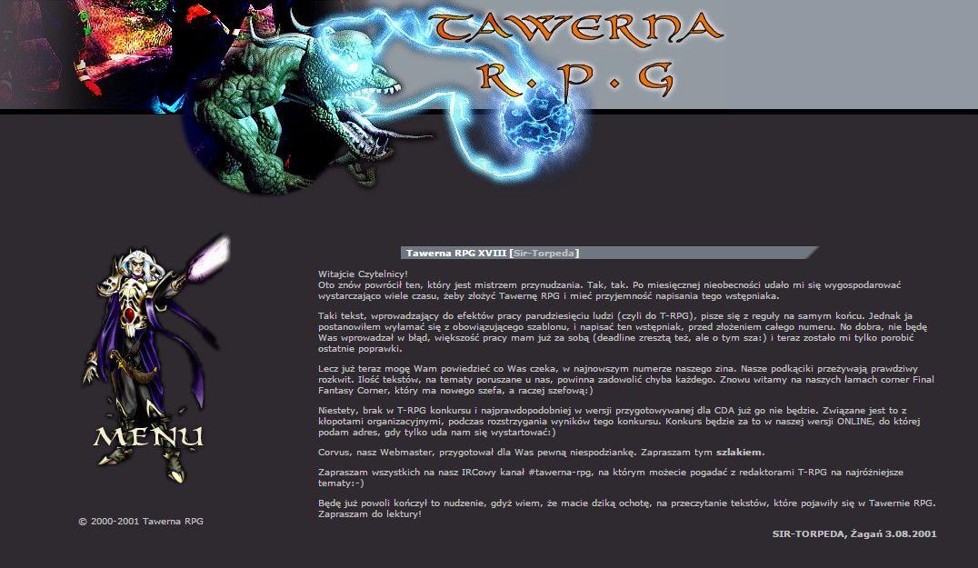 Tawerna RPG #019 - październik 2001