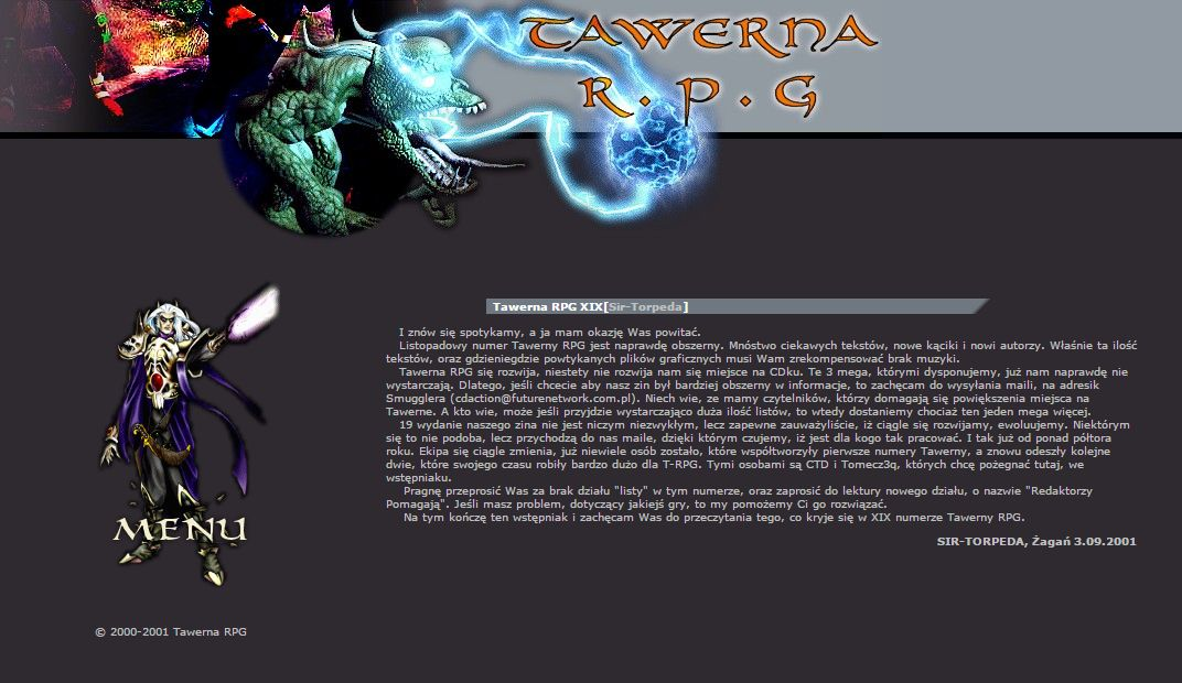 Tawerna RPG #020 - listopad 2001