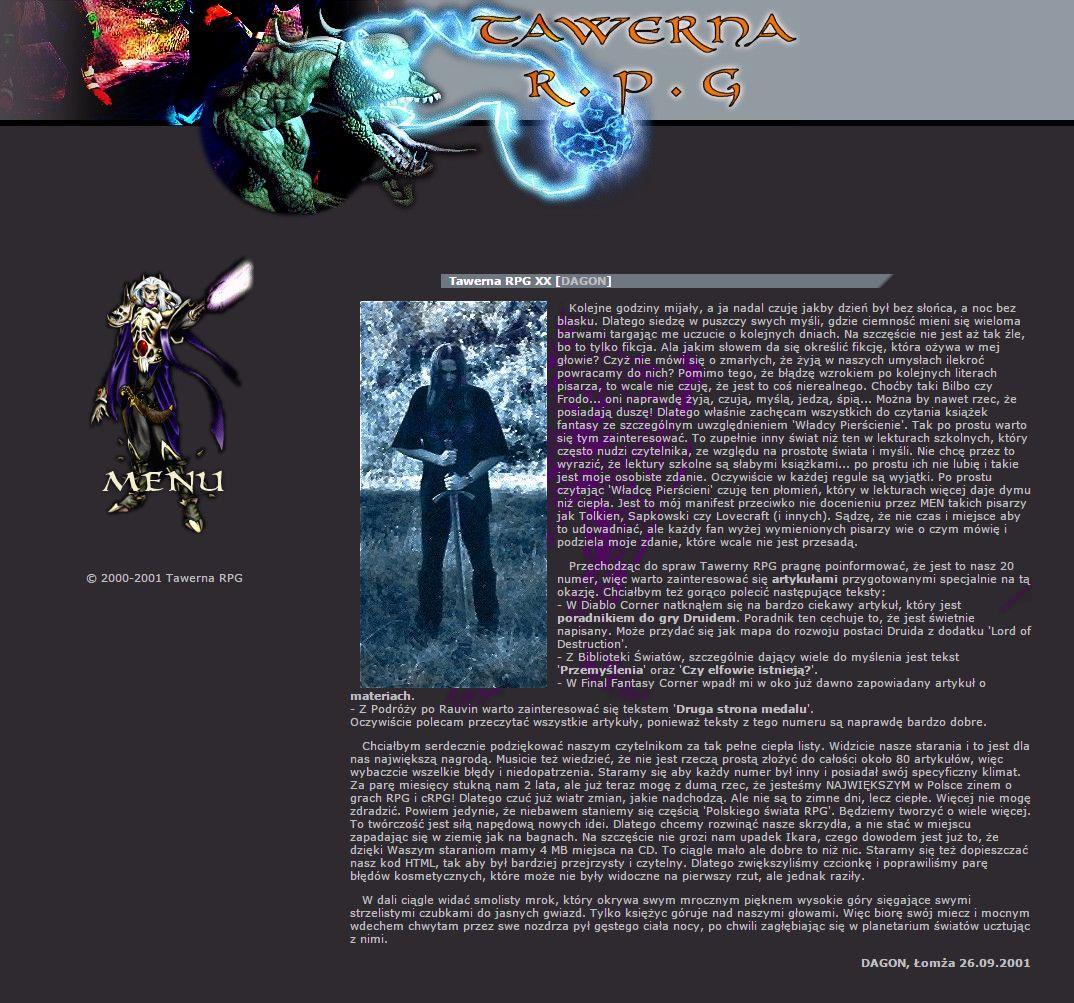 Tawerna RPG #021 - grudzień 2001