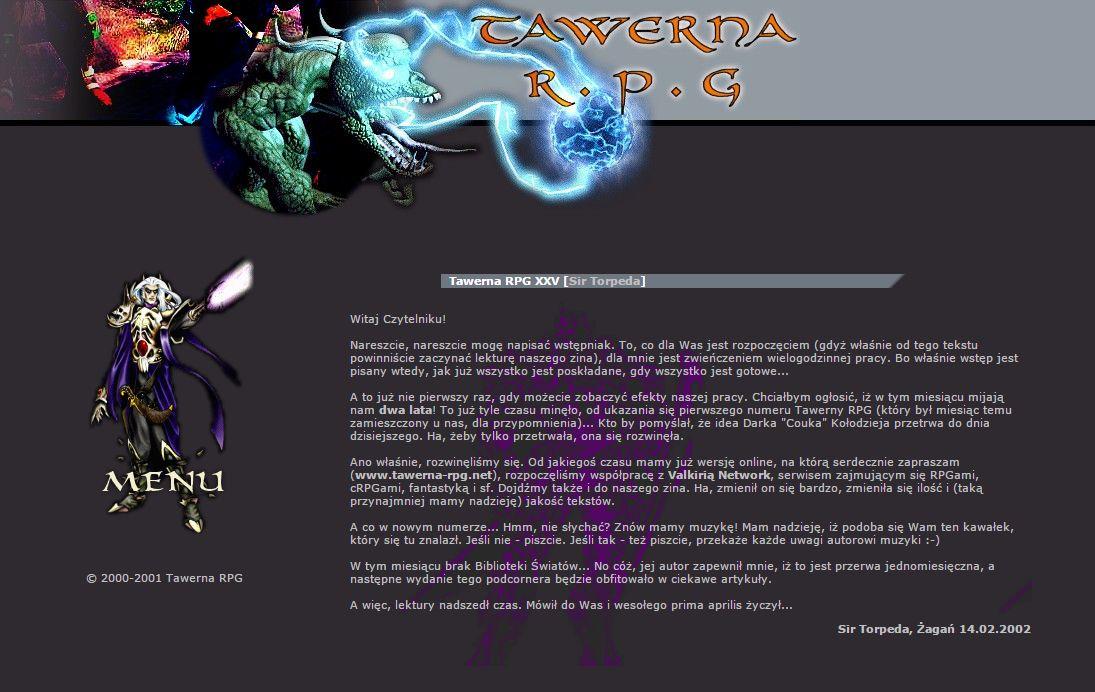 Tawerna RPG #025 - kwiecień 2002