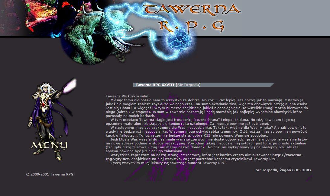Tawerna RPG #028 - lipiec 2002