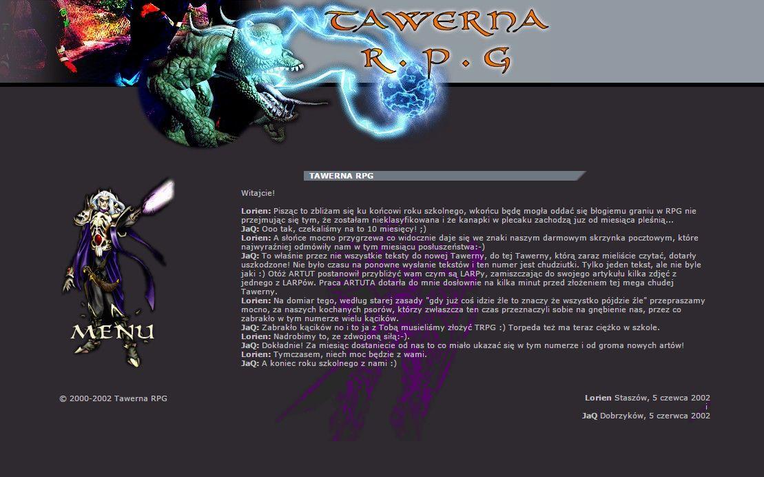 Tawerna RPG #029 – sierpień 2002
