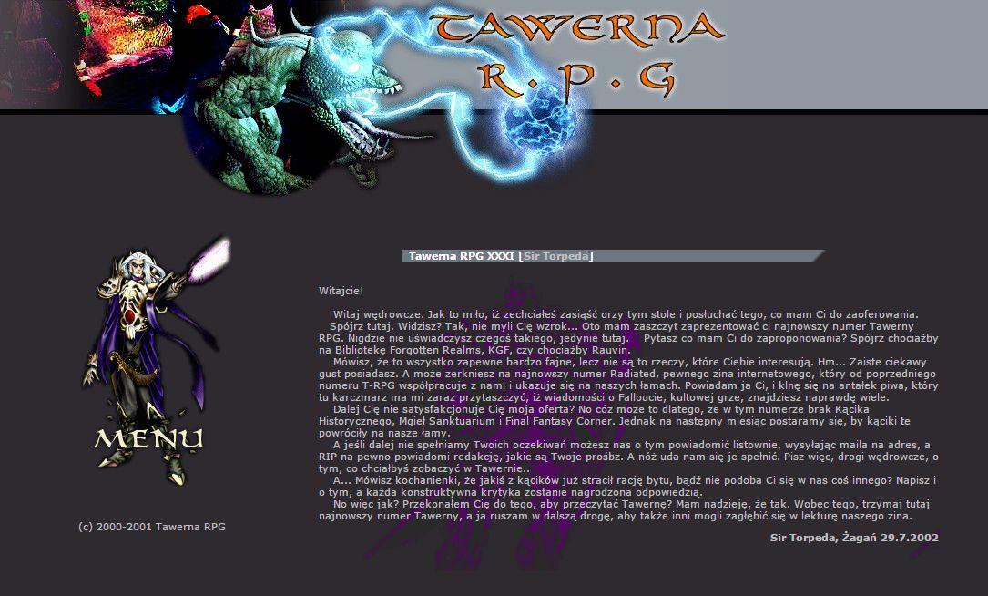 Tawerna RPG #031 - październik 2002