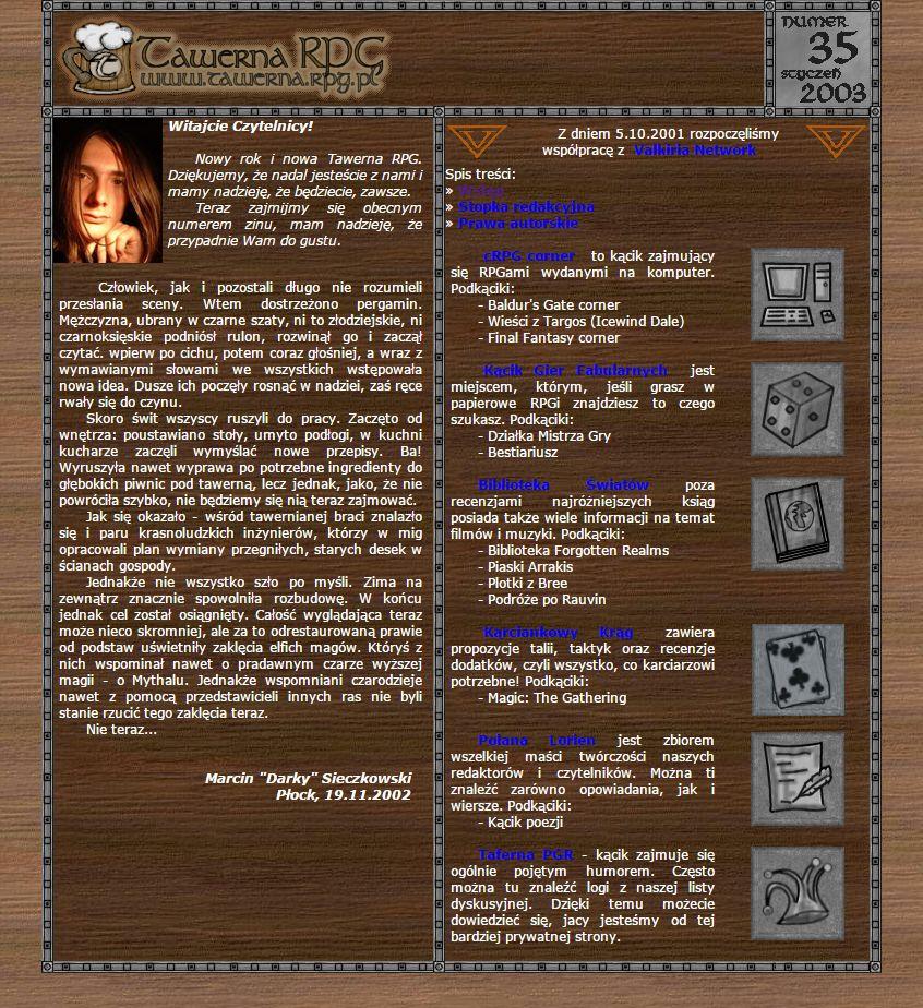 Tawerna RPG #035 - styczeń 2003