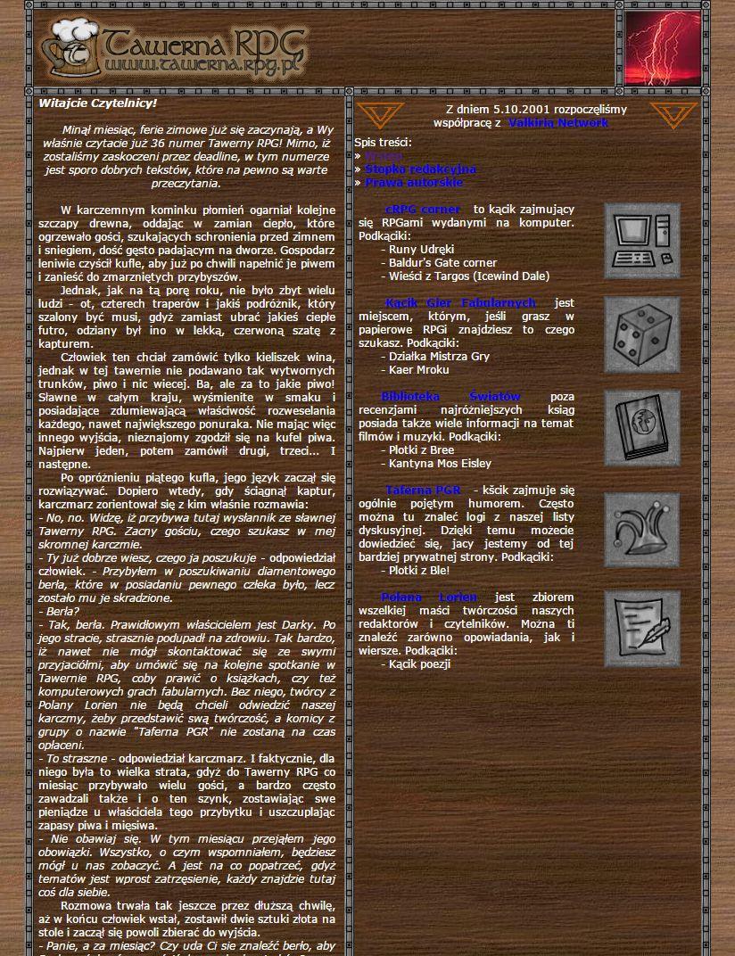 Tawerna RPG #036 - luty 2003