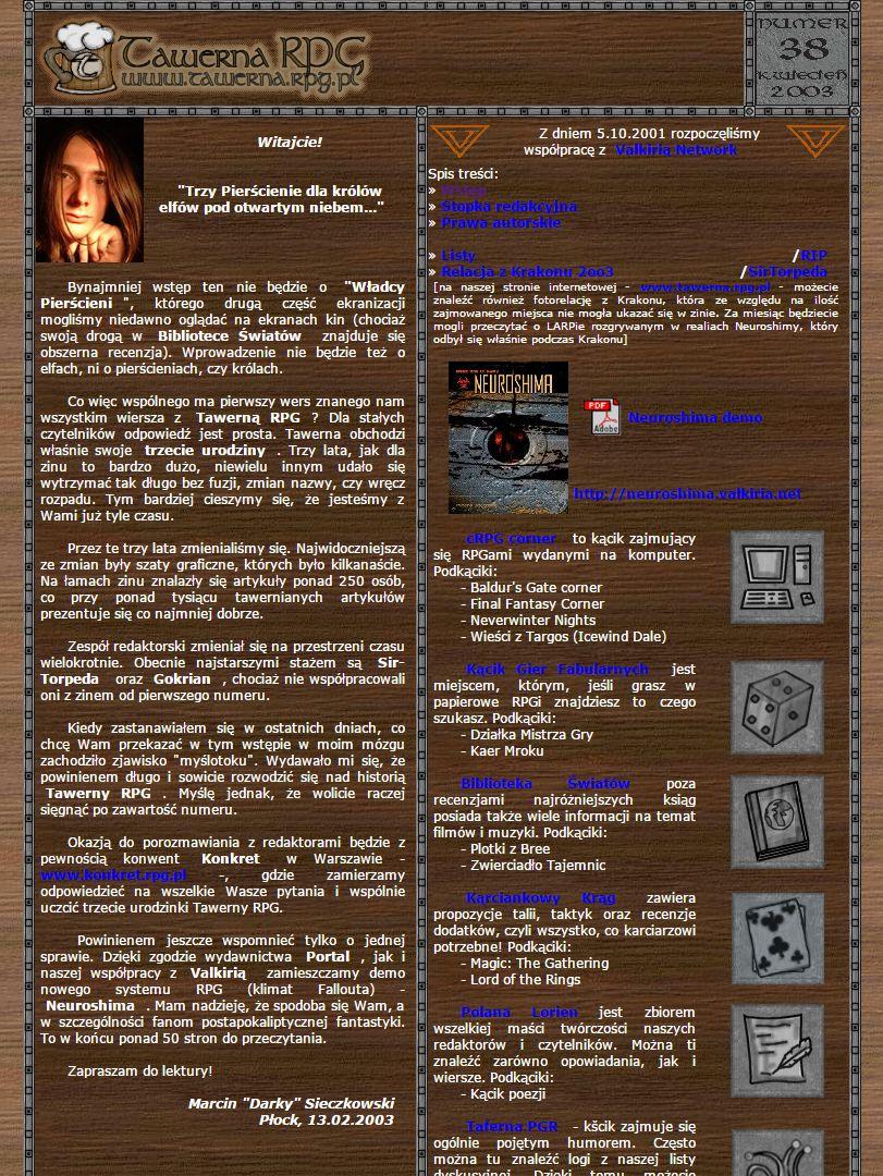 Tawerna Rpg 038 Kwiecień 2003 Tawerna Rpg