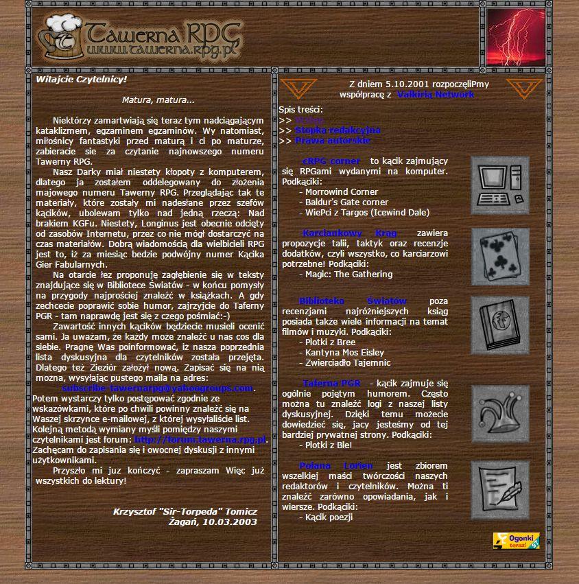 Tawerna RPG #039 - maj 2003