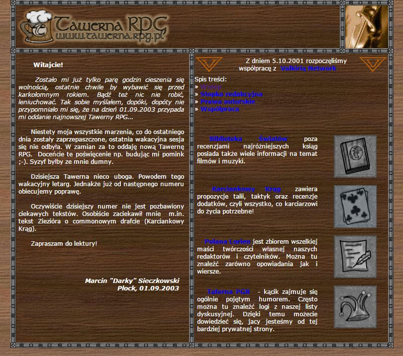 Tawerna RPG #045 - listopad 2003