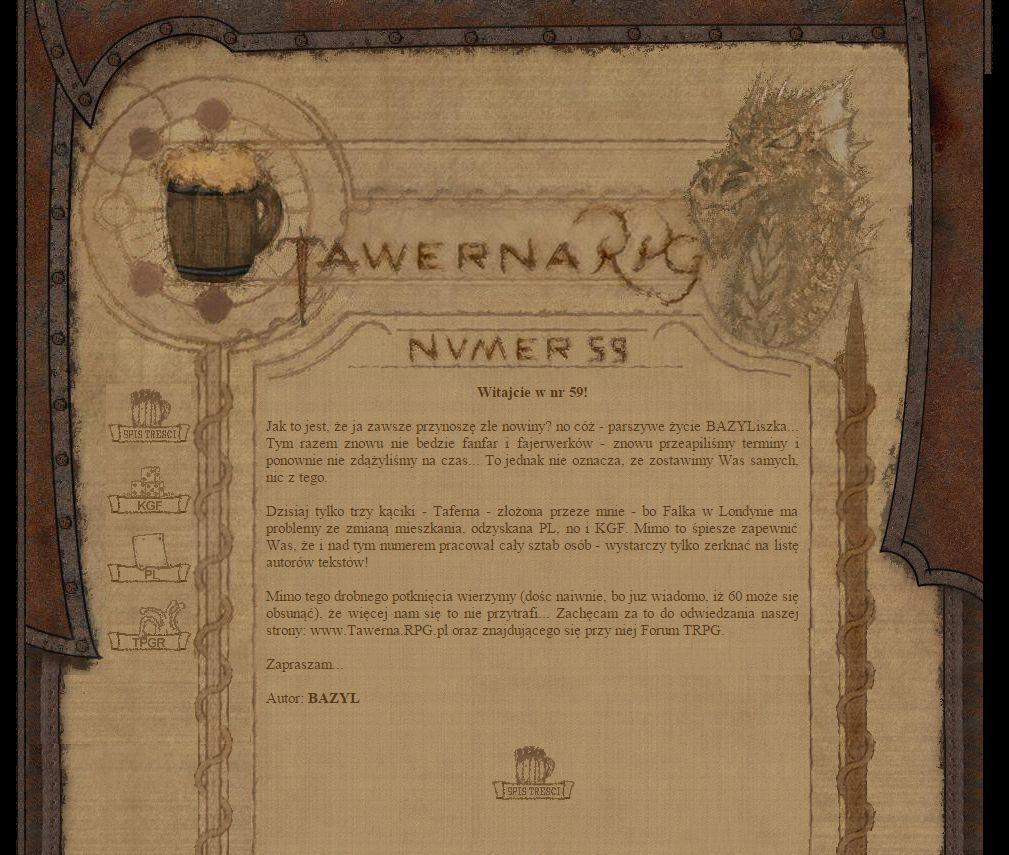 Tawerna RPG #059 - grudzień 2004