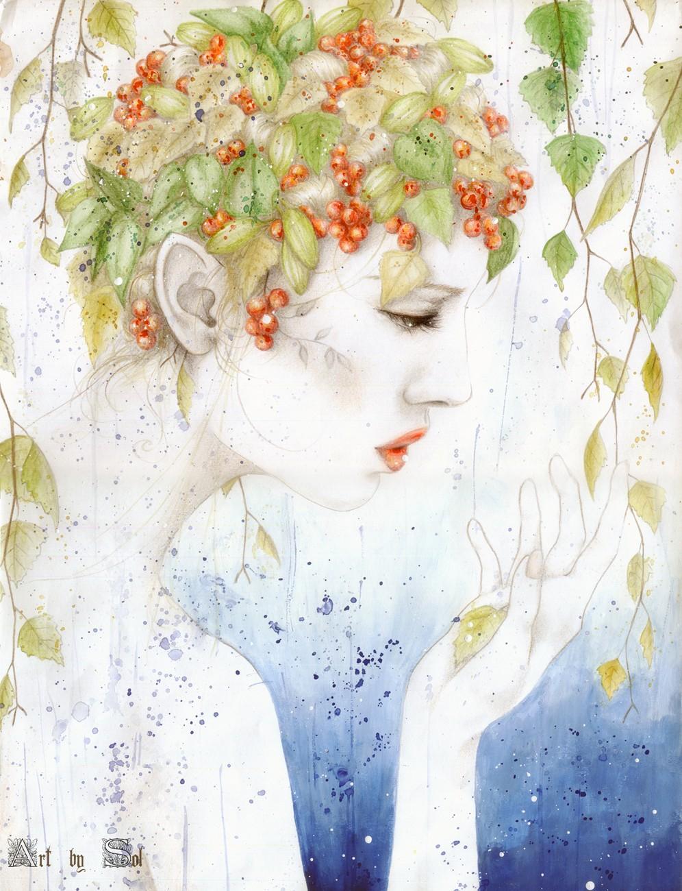 Rain of leaves - Sol Angelica